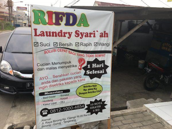 1Laundry Syariah di Tangerang Banten hubungi 081210004854