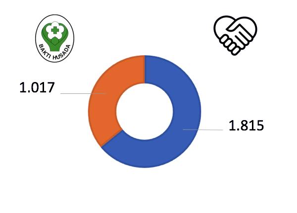 Data Rumah Sakit Seluruh Indonesia dilengkapi dengan info grafik