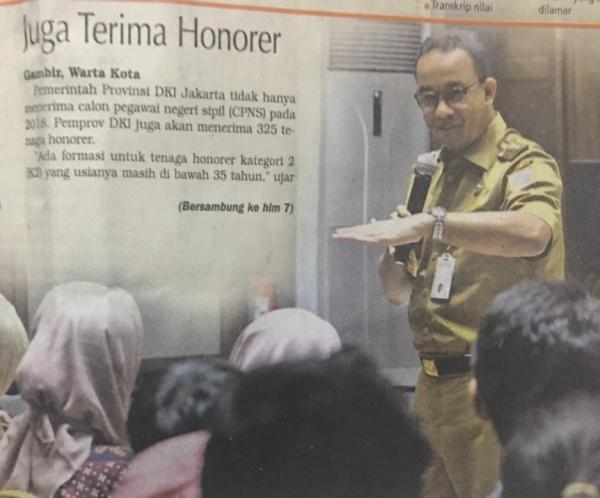 Lowongan Kerja CPNS DKI Jakarta 2018 Terbanyak untuk Guru